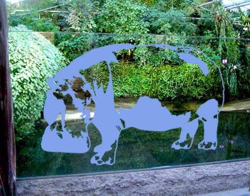 Produktfoto Fensterfolie - Fenstertattoo No.TA12 Nilpferd - Milchglasfolie
