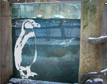 Produktfoto Fensterfolie - Fenstertattoo No.TA5 Pinguin - Milchglasfolie