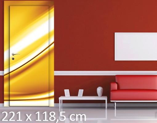 Produktfoto TürTapete Golden Glow