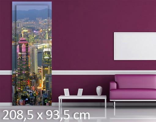 Produktfoto TürTapete Hongkong Skyline