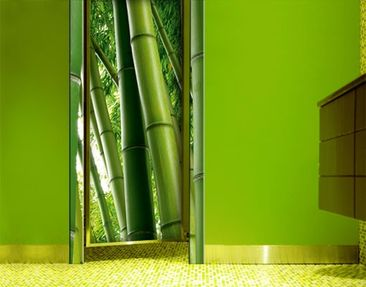 Product picture Door Photo Wall Mural Bamboo Trees Nr.2