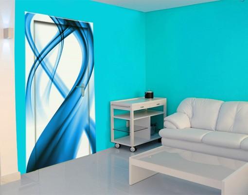 Produktfoto TürTapete Blue Element