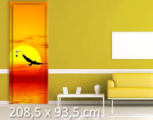 Produktfoto Türtapete Sonnenuntergang - Fabulous Sunset- selbstklebend