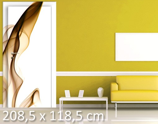 Produktfoto TürTapete Golden Flame