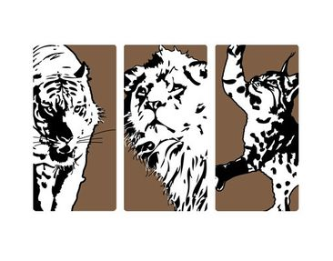 Product picture Wall Mural no.TA28 Big Cat Triptych