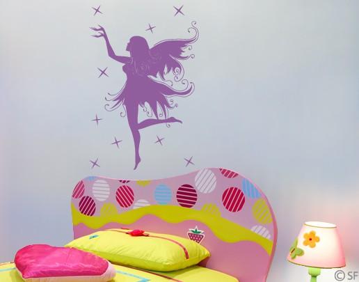 Produktfoto Wandtattoo Babyzimmer No.SF940 Sternenelfe