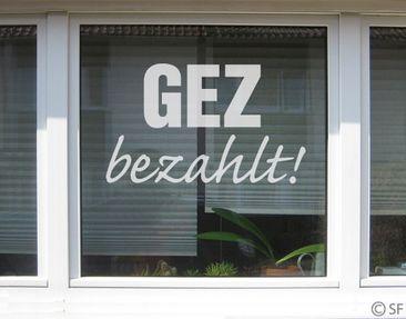 Produktfoto Fensterfolie - Fenstertattoo No.SF950 GEZ - Milchglasfolie