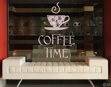 Produktfoto Window Sticker no.SF951 coffee time 1