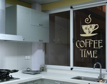 Product picture Window Sticker no.SF951 coffee time 1