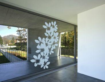 Produktfoto Fensterfolie - Fenstertattoo No.UL11 Blüten - Milchglasfolie