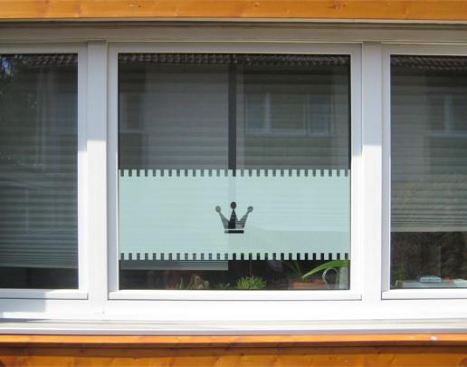 Produktfoto  Fensterfolie - Sichtschutzfolie No.UL12 Gardine Krone I - Milchglasfolie