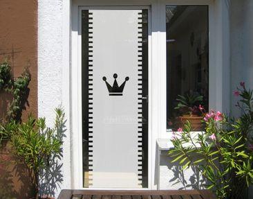 Produktfoto Fensterfolie - Sichtschutzfolie No.UL12 Gardine Krone II - Milchglasfolie