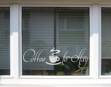 Produktfoto Window Sticker no.UL419 Coffee to Stay 2