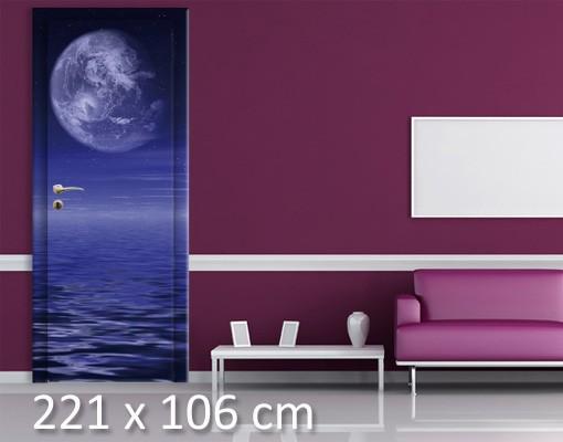 Produktfoto TürTapete Moon and Ocean