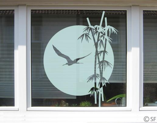 Produktfoto Fensterfolie - Fenstertattoo No.SF979 Bambus - Milchglasfolie