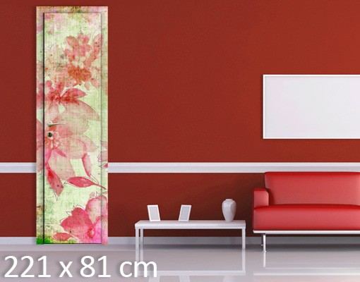 Produktfoto Türtapete Mohnblumen - Mohn in Pastell - Tapete selbstklebend