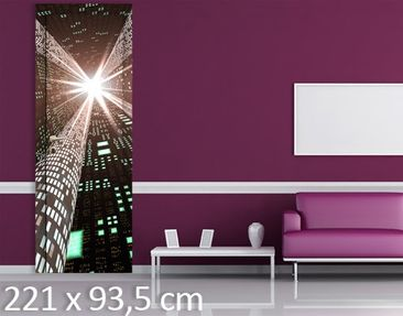 Product picture Door Wall Mural Information Highway