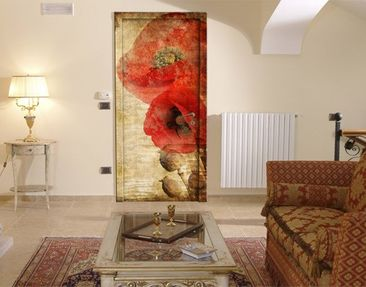 Produktfoto Door Wall Mural Poppy Flower