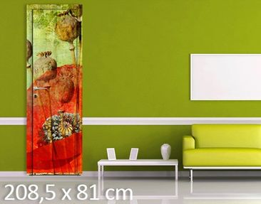 Product picture Door Wall Mural Poppy Stalks