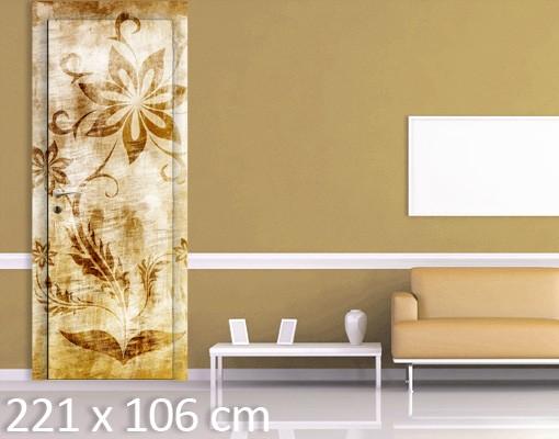 Produktfoto Tapete Kinderzimmer - Fototapete Blumen - Wooden Flower - Tapete selbstklebend
