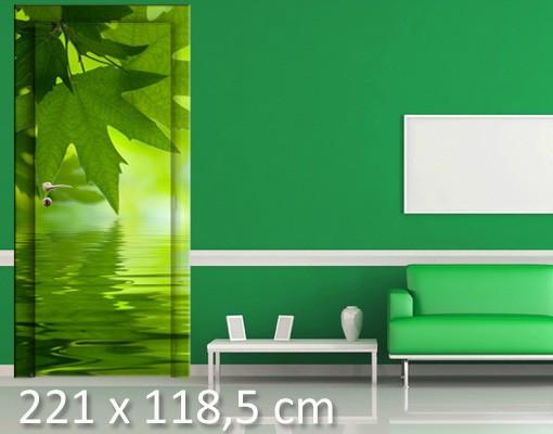 Produktfoto TürTapete Green Ambiance III