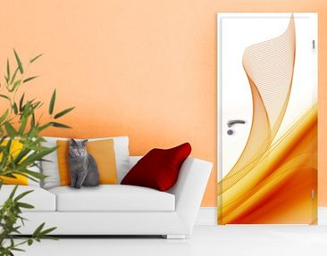 Produktfoto Door Photo Wall Mural Orange Dust