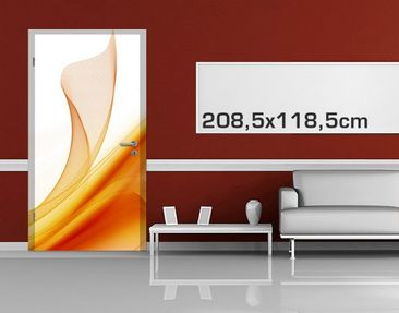Product picture Door Photo Wall Mural Orange Dust