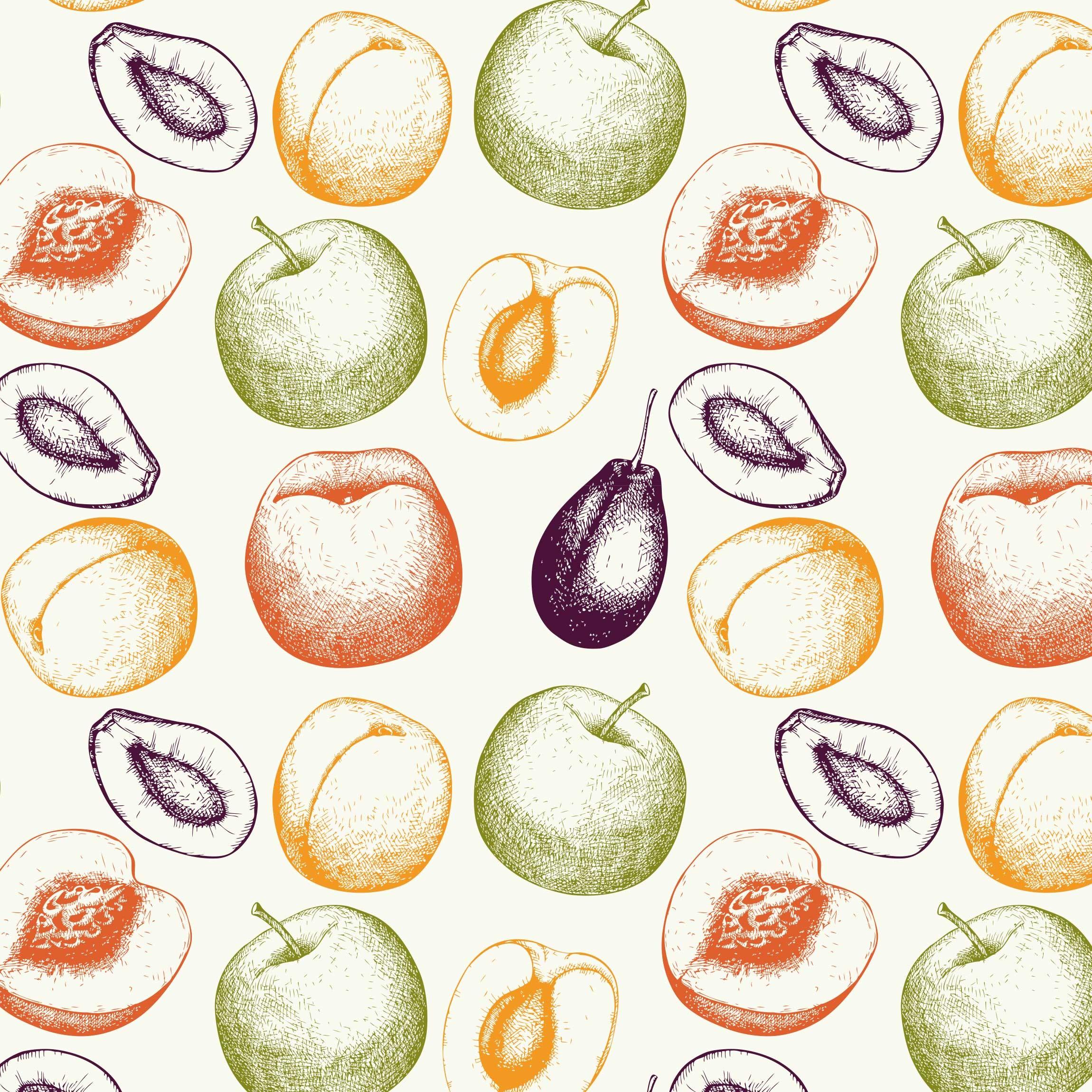 klebefolie handgezeichnetes obst kchen muster selbstklebende folie - Kuchen Muster