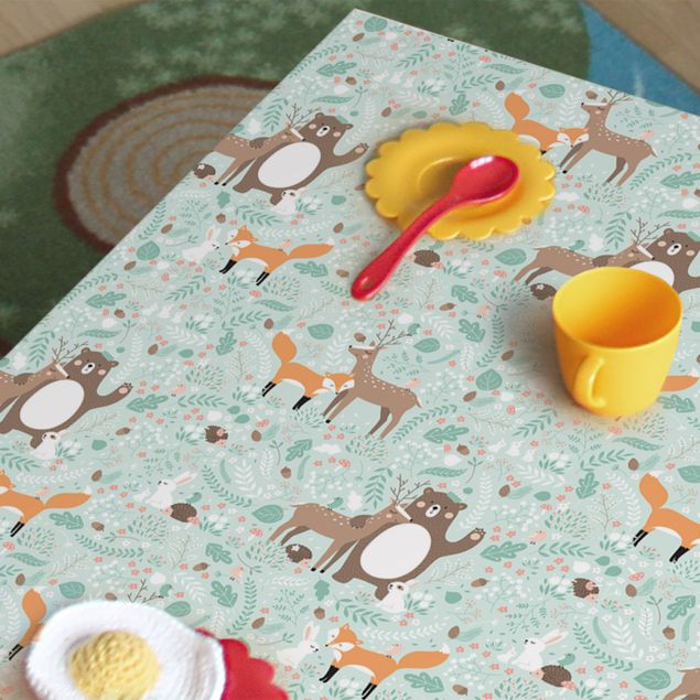 Immagine del prodotto Pellicola adesiva - Kids pattern Forest Friends with forest animals