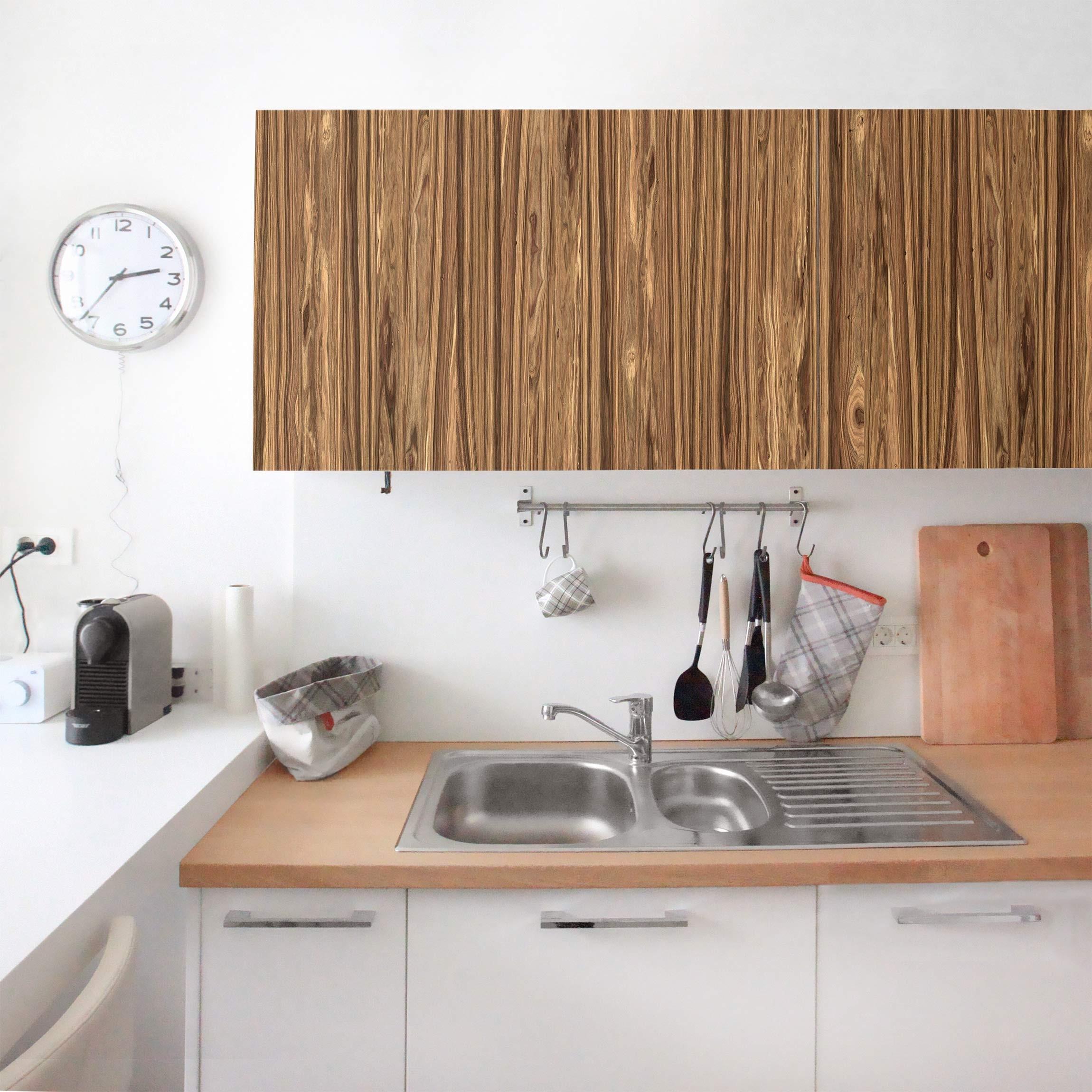 Holzklebefolie macauba palmen holzfolie selbstklebende for Selbstklebende dekorfolie