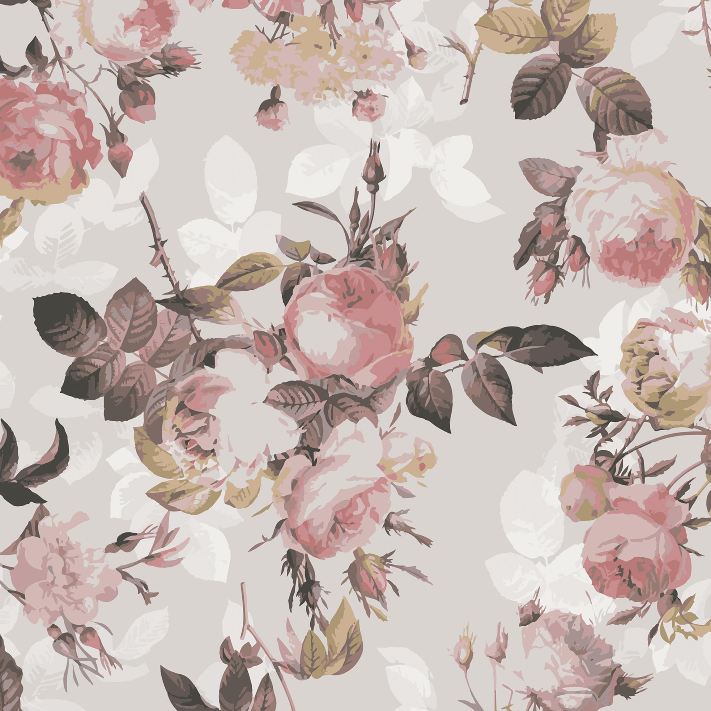 klebefolie vintage blumen muster mit rosen selbstklebende folie. Black Bedroom Furniture Sets. Home Design Ideas