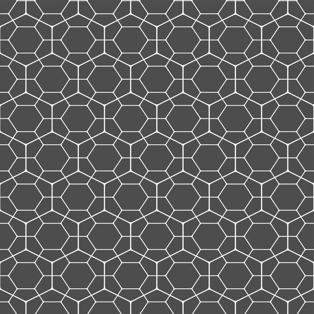 Produktfoto Möbelfolie - Geometrisches Diamant Wabenmuster anthrazit - Möbel Klebefolie