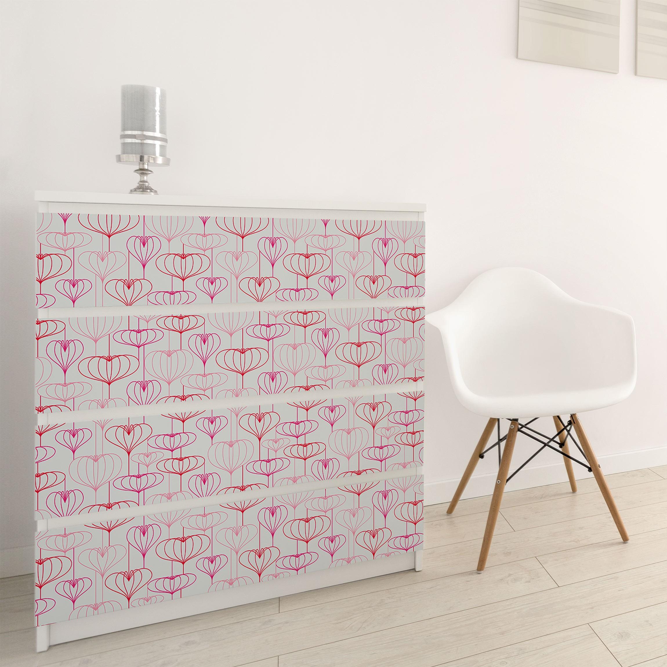carta adesiva per mobili heart pattern. Black Bedroom Furniture Sets. Home Design Ideas