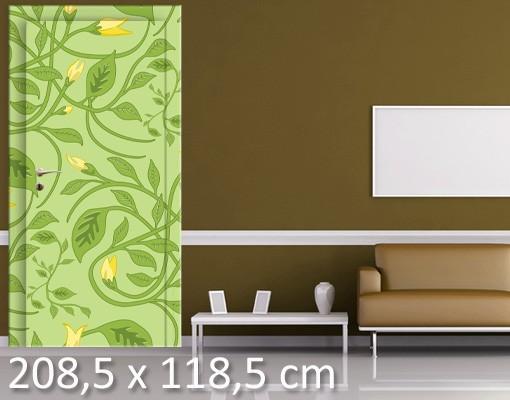 Produktfoto Türtapete Blumen selbstklebend -  Twine Divine
