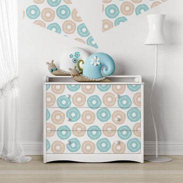 Produktfoto Möbelfolie - Modernes Pastell Muster...