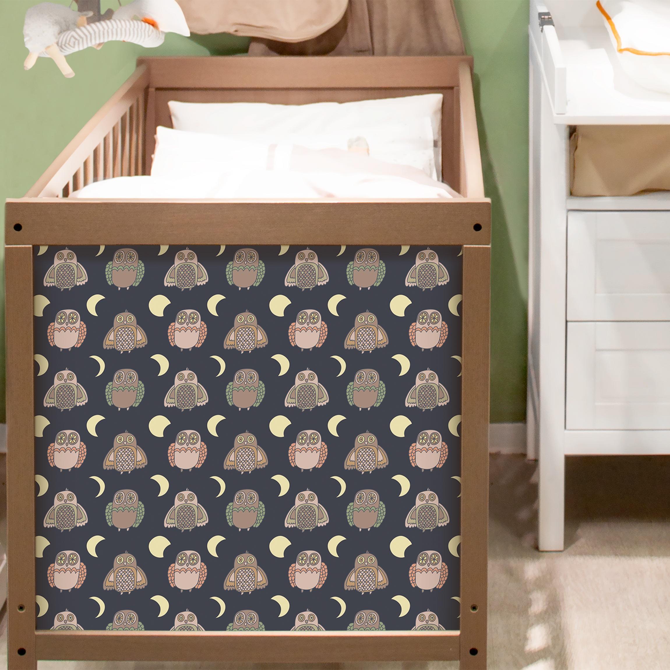 m belfolie nachteulen muster mit mondphasen klebefolie. Black Bedroom Furniture Sets. Home Design Ideas