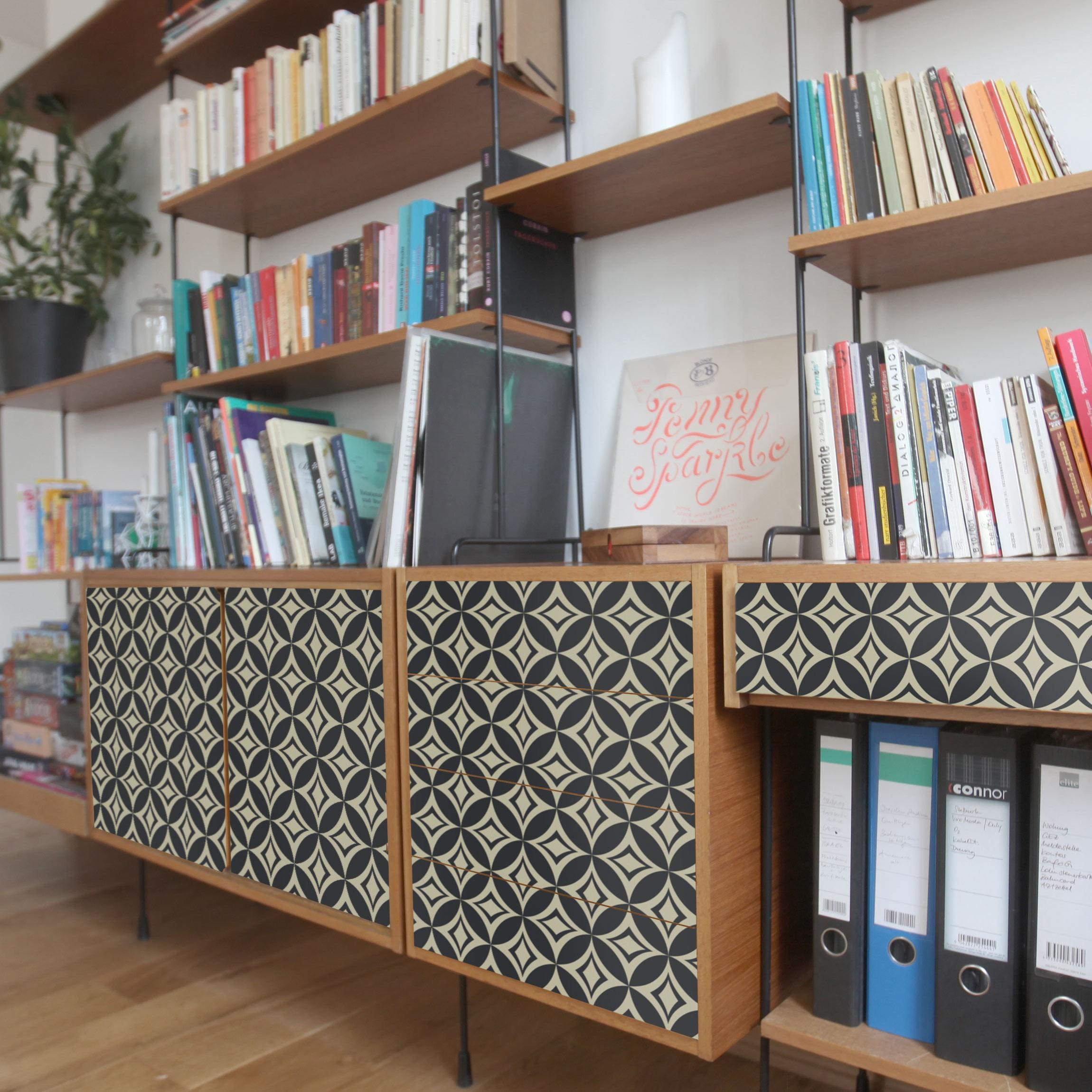 m belfolie pr gnantes art deco muster folie f r m bel. Black Bedroom Furniture Sets. Home Design Ideas