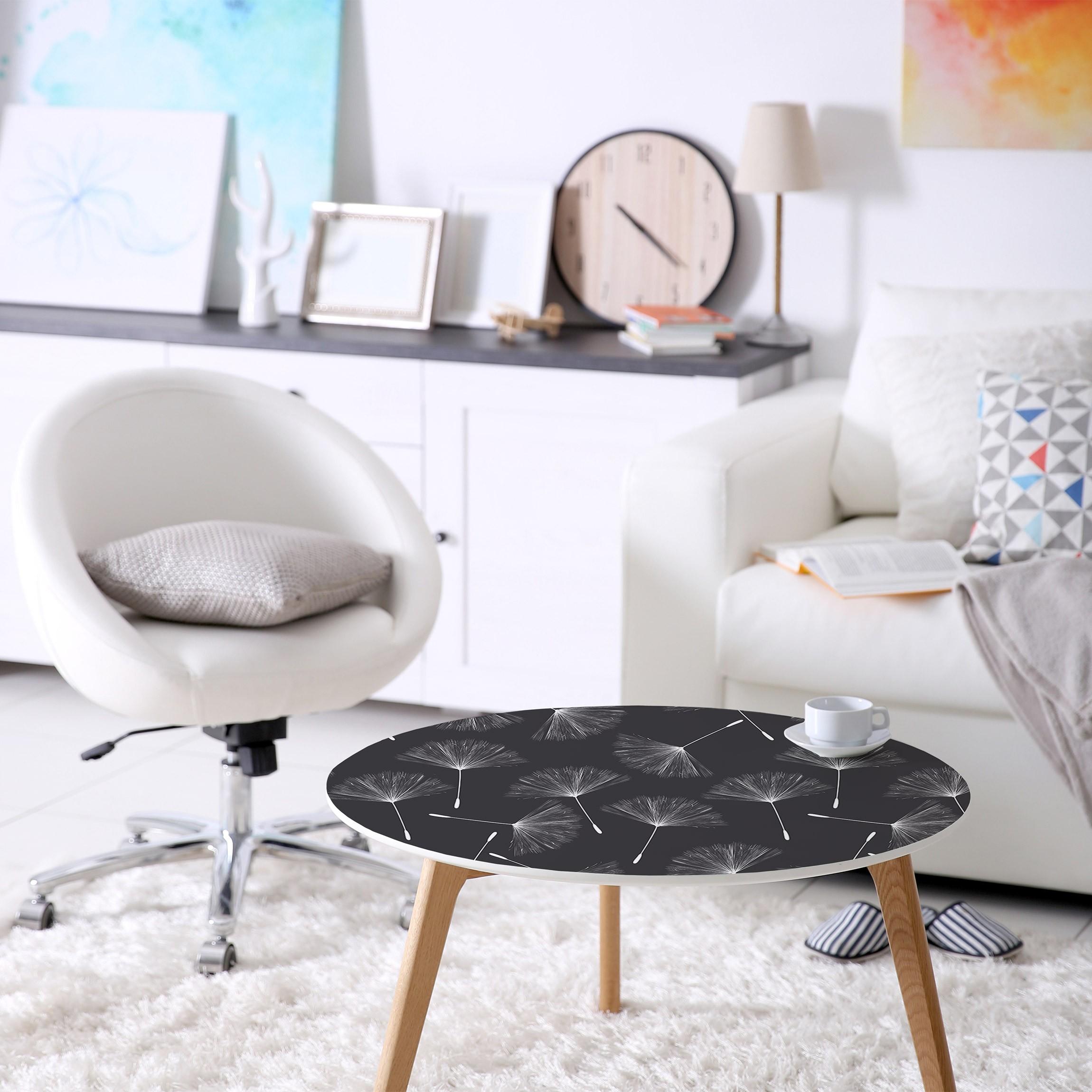 m belfolie pusteblumen muster wei dunkelgrau. Black Bedroom Furniture Sets. Home Design Ideas