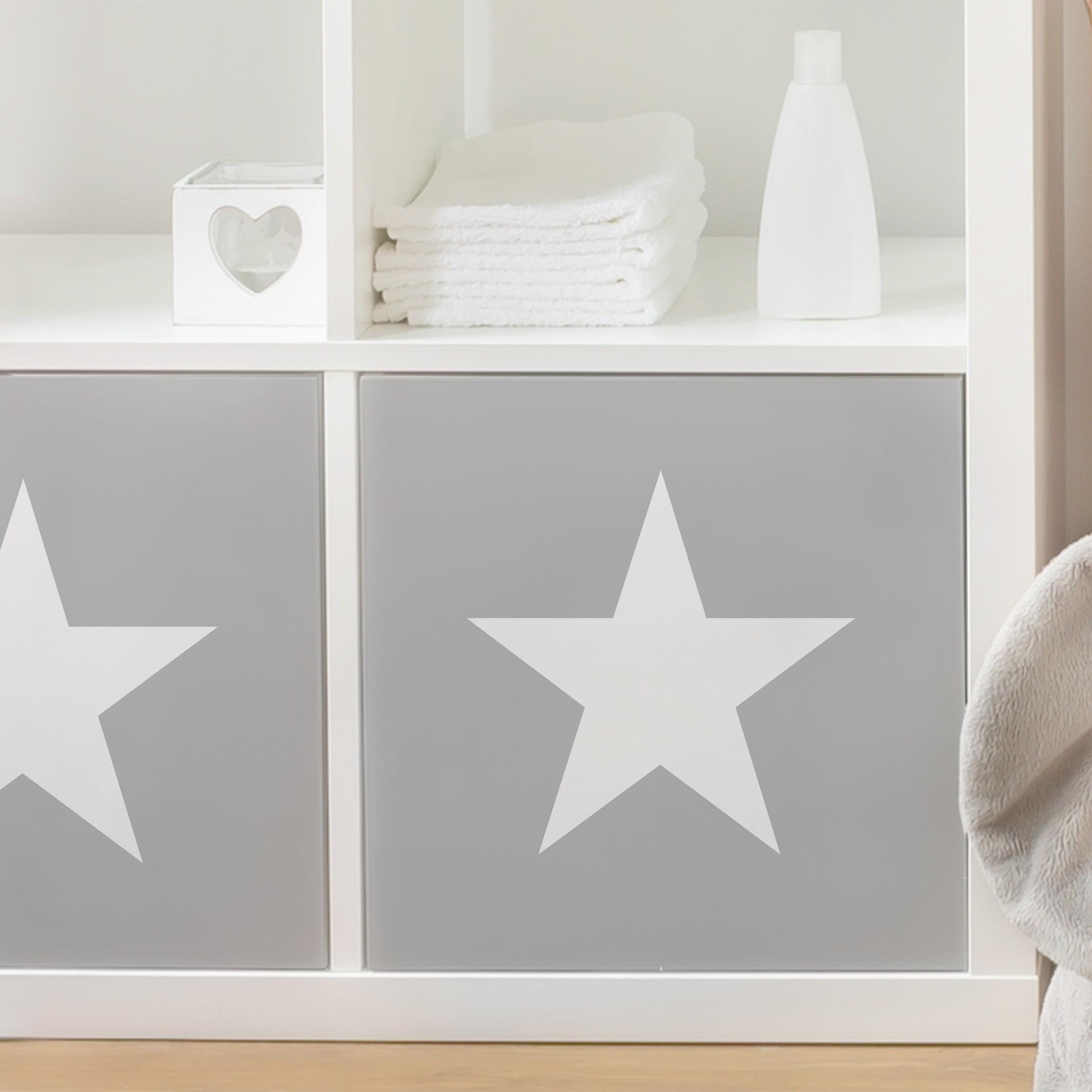 Mobelfolie Weisse Sterne Auf Grau Folie Fur Mobel Selbstklebend