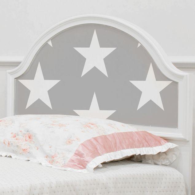 Produktfoto Möbelfolie - Weiße Sterne auf Grau -...