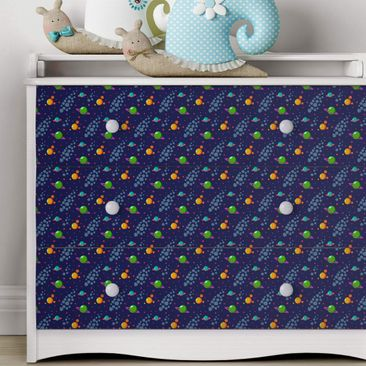 Immagine del prodotto Carta Adesiva per Mobili - Space children pattern with planets and stars