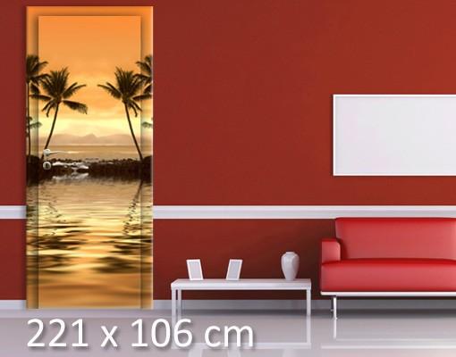 Produktfoto Türtapete Sonnenuntergang - Karibik - Caribbean Sunset I - selbstklebend