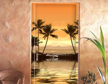 Produktfoto Door Wall Mural Caribbean Sunset I