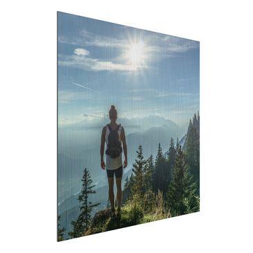 Produktfoto Wunschbild - Ihr Bild als Aluminium Print Wandbild gebürstet - Quadrat 1:1