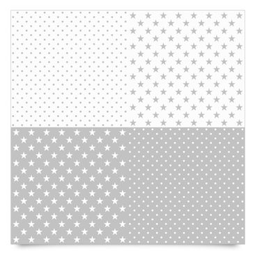 Product picture Adhesive Film - Grey white stars and...