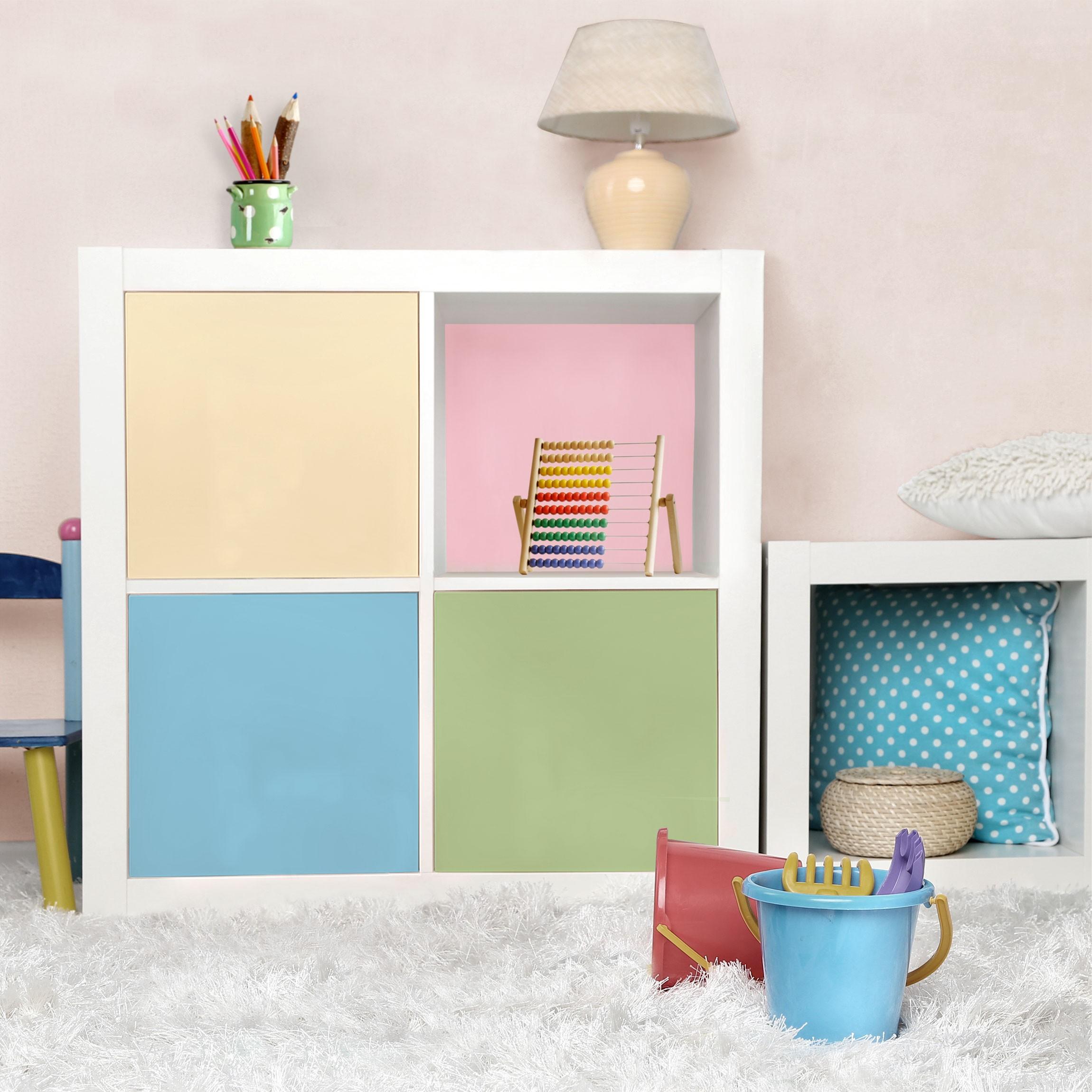 klebefolie kinderzimmer set mit 4 sch nen pastellfarben cr me ros pastellblau mint. Black Bedroom Furniture Sets. Home Design Ideas