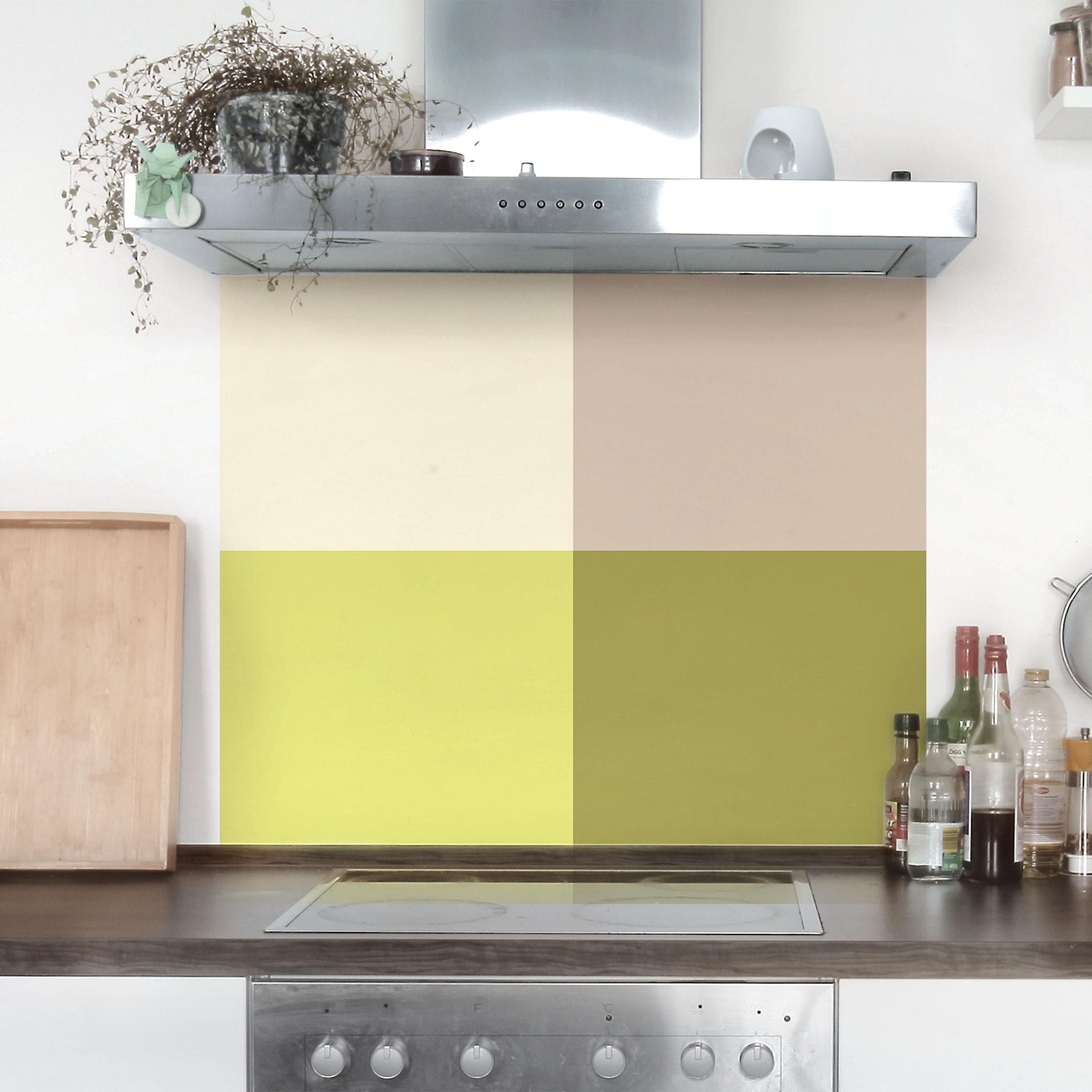 Klebefolie Küche Set - Frühlingsfrische Farben - Kaschmir Macchiato  Pastellgrün Bambus