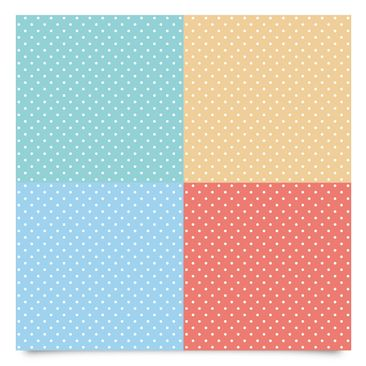 Immagine del prodotto Pellicola adesiva - 4 pastel colours with white dots - Turquoise blue yellow red