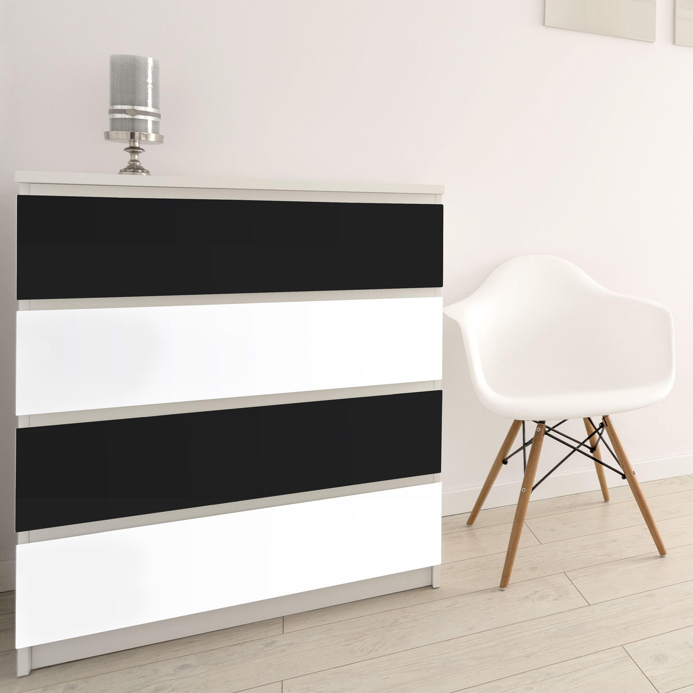 klebefolie schwarz wei farbset zum selbst gestalten. Black Bedroom Furniture Sets. Home Design Ideas