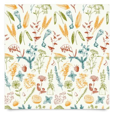 Immagine del prodotto Pellicola adesiva - Set of 2 patterns with fruit, herbs and grain